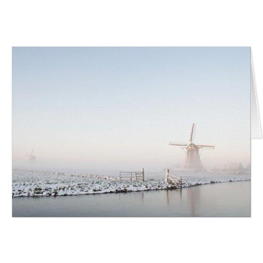 Winter in der Holland-Weihnachtsgrußkarte Grußkarte