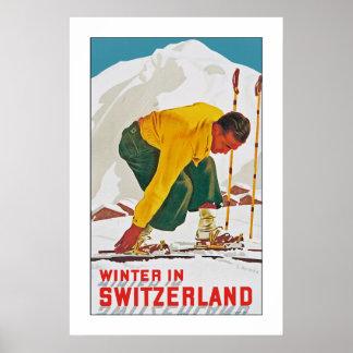 Winter in der Schweiz Posterdruck