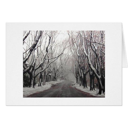 Winter in einer Anmerkung Mitteilungskarte