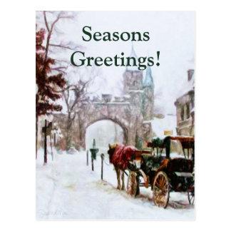 Winter in Québec-Stadt durch Shawna Mac Postkarte