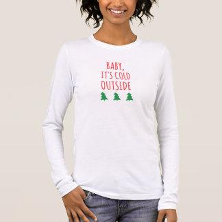 Winter - kalte Außenseiten-langer Hülsen-T - Shirt