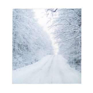 Winter-Land-Straßen-Szene Notizblock