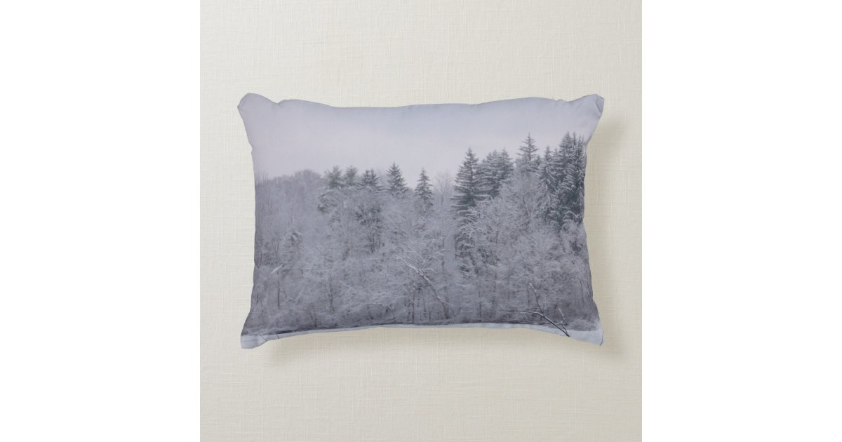 winter landschaft deko kissen zazzle. Black Bedroom Furniture Sets. Home Design Ideas