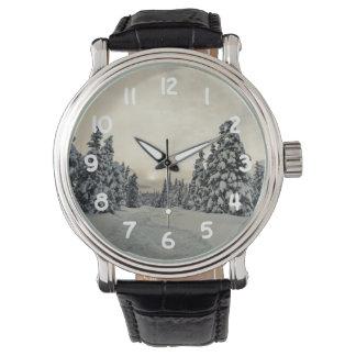 Winter-Magie Uhr