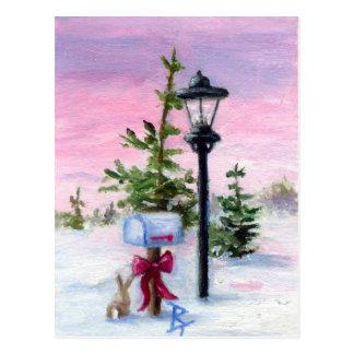 Winter-Märchenland aceo Postkarte