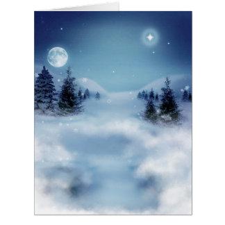 Winter-Märchenland nachts Karte