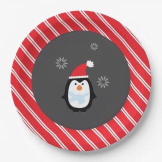 Winter-Märchenland-Papierplattepenguin-Teller Pappteller