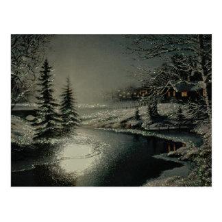 Winter-Märchenland-Postkarten Postkarte