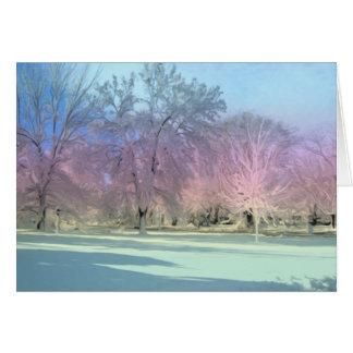 [Winter-Märchenland-] Schnee-Eis-Bäume [freier Grußkarte