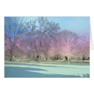 [Winter-Märchenland-] Schnee-Eis-Bäume - Karte