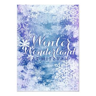 Winter-Märchenland-Thema SCHLÄGER MITZVAH 12,7 X 17,8 Cm Einladungskarte