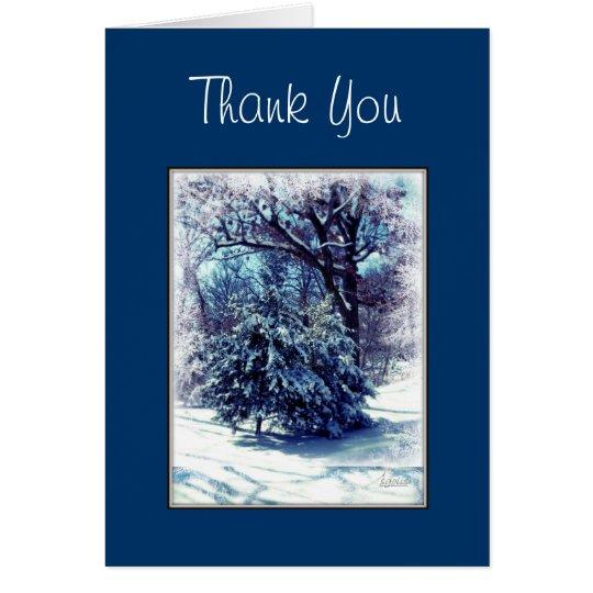 Winter-Märchenland-Weihnachten danken Ihnen zu Karte
