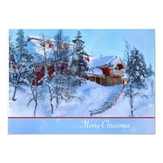 Winter-Märchenland-Weihnachtskarte 12,7 X 17,8 Cm Einladungskarte