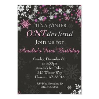 Winter ONEderland Einladung, erste, 1. Geburtstag Karte