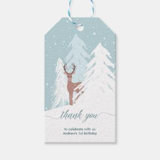 Winter Onederland erster Geburtstag danken Ihnen Geschenkanhänger