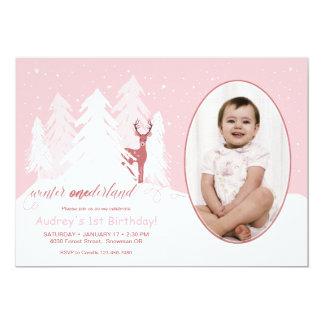 Winter Onederland kundenspezifische 12,7 X 17,8 Cm Einladungskarte