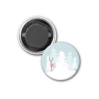 Winter Onederland Runder Magnet 3,2 Cm