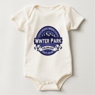 Winter-Park-Mitternacht Baby Strampler
