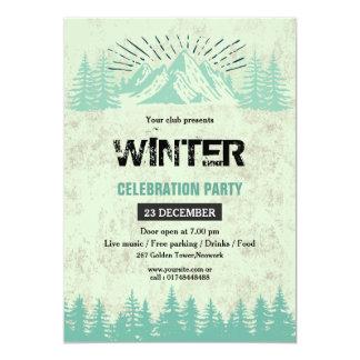 Winter-Party Einladungs-Flyer 12,7 X 17,8 Cm Einladungskarte