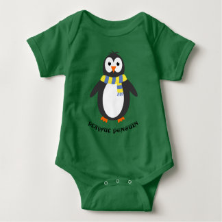 Winter Penguin niedliches playful Baby Strampler