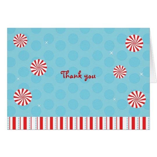 Winter-Pfefferminz-Süßigkeit danken Ihnen Grußkarte