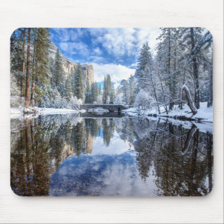 Winter-Reflexion bei Yosemite Mousepads