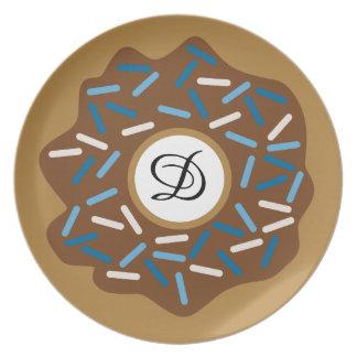 Winter-Schaumgummiringe mit Blau besprüht Teller