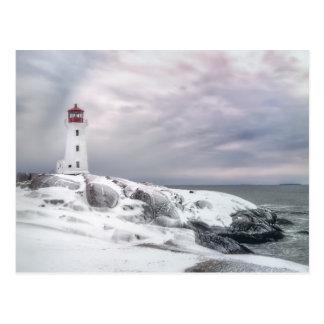 Winter-Schnee an Peggys Bucht Halifax Postkarte