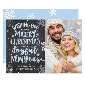 Winter-Schnee-Weihnachtskarte 12,7 X 17,8 Cm Einladungskarte