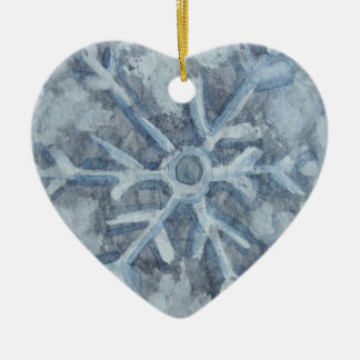 Winter-Schneeflocke-Aquarell Keramik Ornament