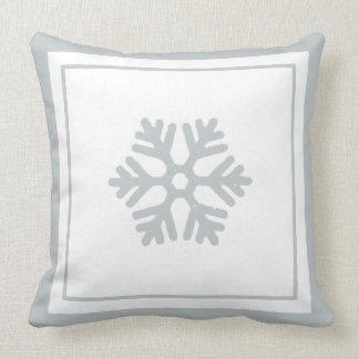 Winter-Schneeflocke-Eis-Blau-weißes Kissen