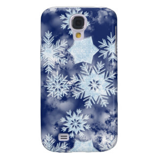 Winter-Schneeflocke-eisiges Blau Galaxy S4 Hülle