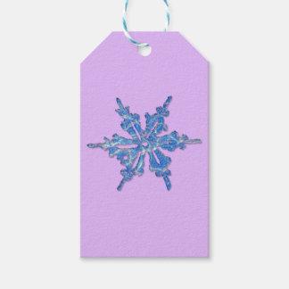 Winter-Schneeflocke-Entwurf für Weihnachten 3 Geschenkanhänger