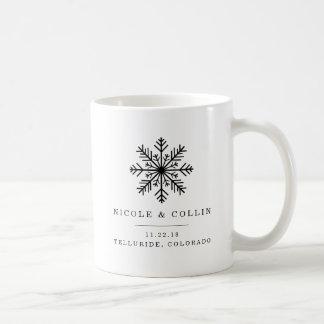 Winter-Schneeflocke-Gastgeschenk Hochzeit Kaffeetasse