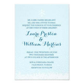 Winter-Schneeflocke-Hochzeits-Einladung Karte