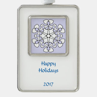 Winter-Schneeflocke Rahmen-Ornament Silber