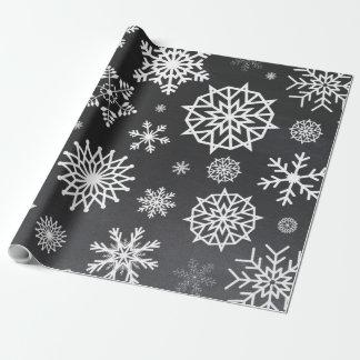 Winter-Schneeflocketafel graues graues Weihnachten Geschenkpapier