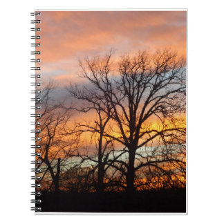 Winter-Sonnenuntergang 1 Notizblock