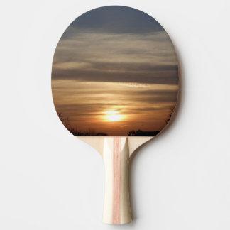 Winter-Sonnenuntergang Tischtennis Schläger