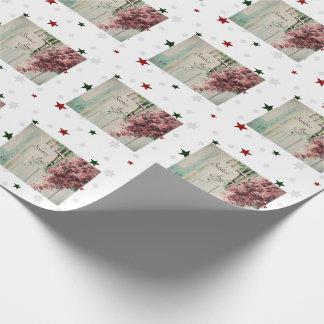 Winter-Sonnenwende-Freude-Dezember-Beeren Geschenkpapier
