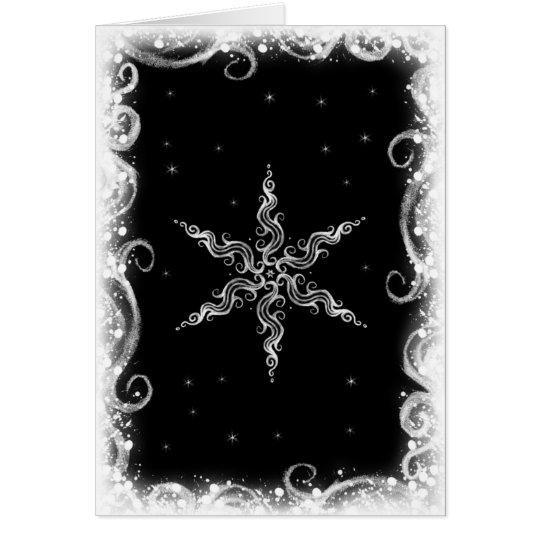 Winter-Stern Mitteilungskarte