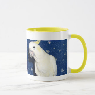 Winter Sulpher Cockatoo-Tasse mit Haube 16oz Tasse