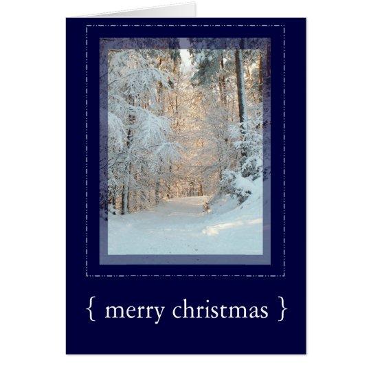 Winter-Szenen-elegante frohe Weihnacht-Karte 3 Grußkarte