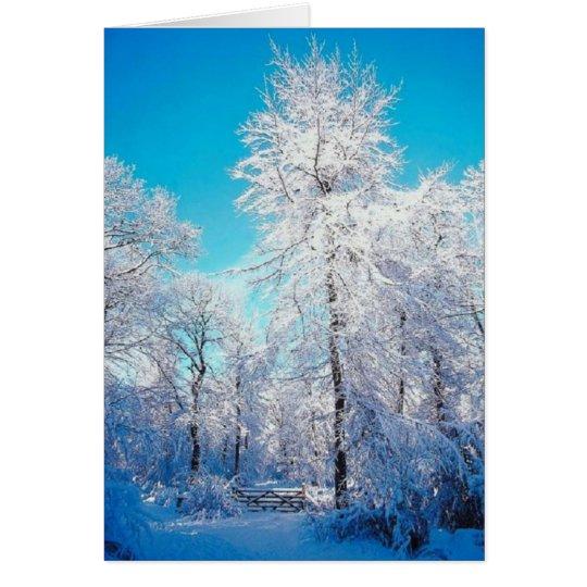 Winter-Szenen-Karte Karte