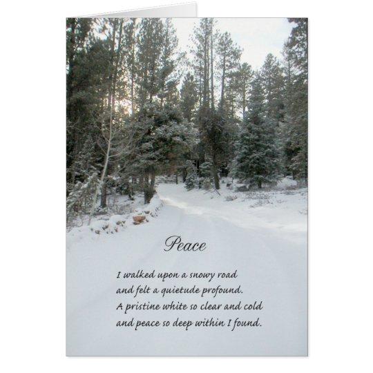 Winter-Szenen-Weihnachtskarte Grußkarte