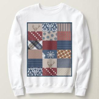 Winter-TagesPatchwork Sweatshirt