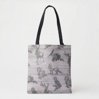 Winter-Taschentasche des tierischen hölzernen Tasche
