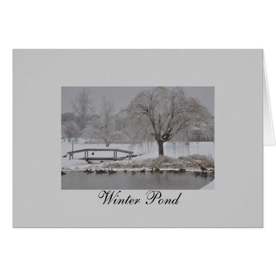 Winter-Teich Grußkarte
