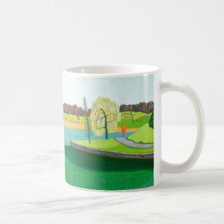 Winter-Teich Kaffeetasse