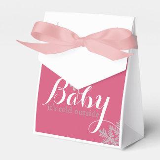 Winter-Thema-Babyparty-Bevorzugungs-Taschen Geschenkkartons